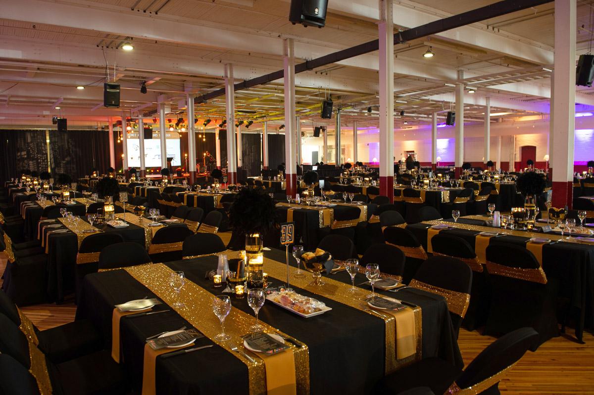 Décoration des tables et de la salle - Classique de golf Normand Léveillé